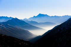 View from Furkapass, Switzerland Stock Image