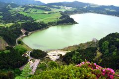 View on Furnas Lake, Sao Miguel, Azores, Portugal. View on Furnas Lake, Sao Miguel, Azores stock photo