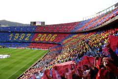 View of Futbol Club Barcelona's stadium Royalty Free Stock Photo
