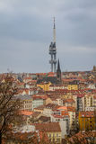 View of the futuristic broadcasting tower in Prague Royalty Free Stock Image