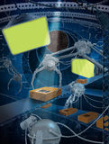View futuristic tracking shipments mechanism Royalty Free Stock Photos