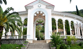 View of the Gagra colonnade. Gagra Stock Photography
