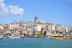 View of galata district and Galata Kulesi, Istanbul, Turkey Stock Photography