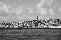 View of Galata district Stock Images