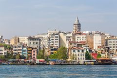 View of the Galata Tower Royalty Free Stock Photography