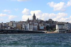 View of Galata Tower district Stock Photography