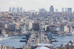 View of the Galata Tower and the Golden Horn. Istanbul. Turkey. Stock Images