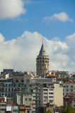 View of Galata Tower in Istanbul Stock Images
