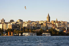 View of the Galata Tower, Istanbul Royalty Free Stock Image