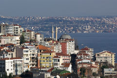 View from Galata tower to  Istanbul, Turkey. Royalty Free Stock Photo