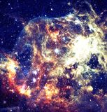 View of the galaxy with stars in outer space. royalty free stock images