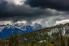 View from Galena Pass Idahoo Sawtooth Mountains Stock Image