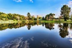 View of Galianovo lake in autumn - Moscow Stock Photos