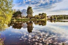 View of Galianovo lake in autumn - Moscow Royalty Free Stock Photo