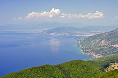 A view from Galicica mountain Stock Photo