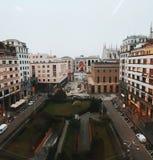 Piazza Diaz Milan view. View on Galleria Vittorio Emanuele Duomo Milano Royalty Free Stock Photos