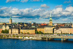 View of Galma Stan from Monteliusvägen, in Södermalm, Stockhol Royalty Free Stock Images