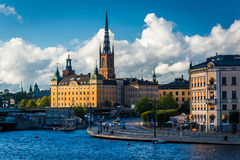 View of Galma Stan from Slussen, in Södermalm, Stockholm, Swede Stock Image