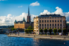 View of Galma Stan from Slussen, in Södermalm, Stockholm, Swede Stock Photo