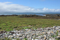 A view of Galway Bay From Mutton Island. In a Irish sunny day Stock Image