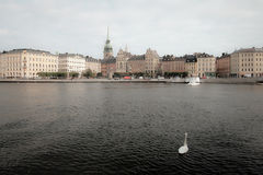 View of Gamla Stan, old center. Royalty Free Stock Image