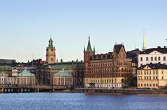 View of Gamla Stan  and Riddarholme, Stockholm Royalty Free Stock Images