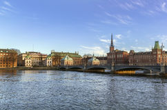 View of Gamla Stan  and Riddarholme, Stockholm Stock Photos
