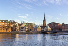 View of Gamla Stan  and Riddarholme, Stockholm Royalty Free Stock Photography