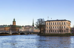 View of Gamla Stan, Stockholm Royalty Free Stock Photos