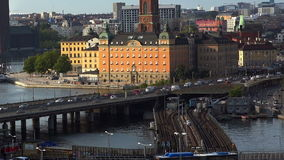 View on Gamla Stan in Stockholm. Old city. Sweden. stock footage