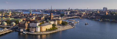 View of Gamla Stan in Stockholm. View of Stockholm's old town, Gamla Stan, from the Stadshuset tower Stock Photo