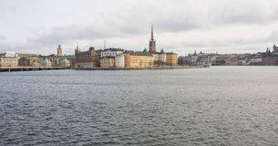 View of Gamla Stan in Stockholm. View of Gamla Stan from the Town Hall of Stockholm in wintertime Stock Images