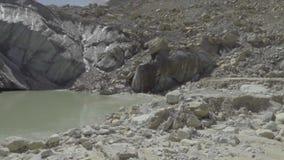 View of Gangotri-Gaumukh trek showing trekkers.