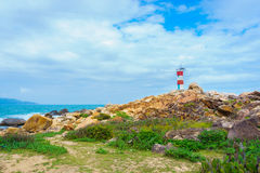 View of GanhDen lighthouse Royalty Free Stock Photos