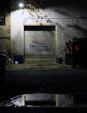 View on a garage and vehicle by night Stock Photos