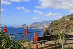View from Garajau looking towards Funchal, Madeira Stock Photography