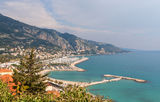View of Garavan, Menton - French Riviera Royalty Free Stock Images