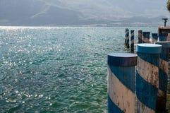 View of Garda Lake, from Limone sul Garda, Brescia, Italy Royalty Free Stock Images