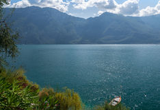 View of Garda Lake, from Limone sul Garda, Brescia, Italy Stock Photos