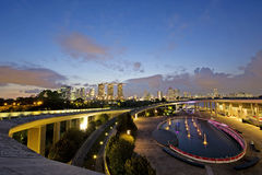 View from garden by the bay singapore Royalty Free Stock Photo