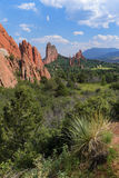 View of Garden of the Gods Stock Images