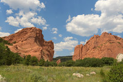 View of Garden of the Gods Stock Image