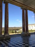 View of the garden. The Grand Trianon at the Chateau de Versailles, France Royalty Free Stock Photo