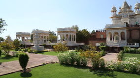 View on garden by Jaswant Thada temple in Jodhpur. stock video footage