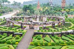 View of Garden at Nong Nooch Garden, Pattaya Royalty Free Stock Photos