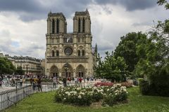 Notre Dame of Paris, France, summer view royalty free stock photos