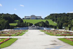 The view in the garden of schonbrunn palace Stock Images