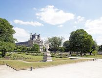 A view of the garden of the Tuileries (Paris France) Royalty Free Stock Photo