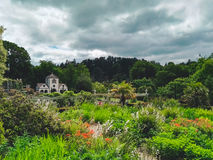 View of a garden in Wales Royalty Free Stock Image
