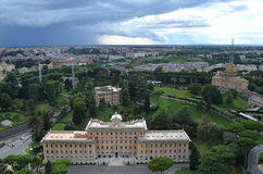 View of the gardens of the Vatican Royalty Free Stock Image